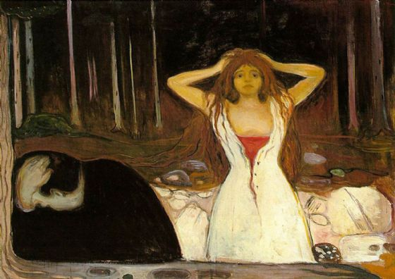 Munch, Edvard: Ashes. Fine Art Print/Poster. Sizes: A4/A3/A2/A1 (00876)